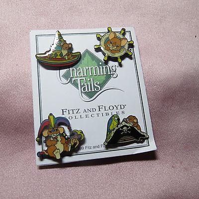 Charming Tails 4 Lapel Buttons