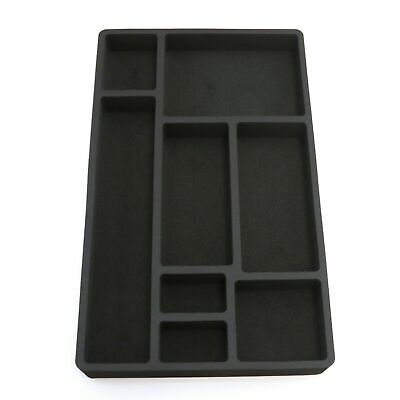 Drawer Organizer For Desk Black Insert Home Or Office 8 Slot 19.9 X 12.1