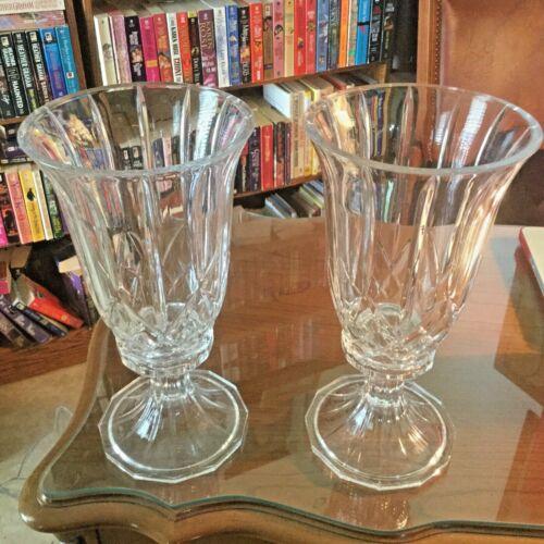 St. George 24% Lead Crystal Hurricane 2 pc. Candle Holder/Vase - Set of 2