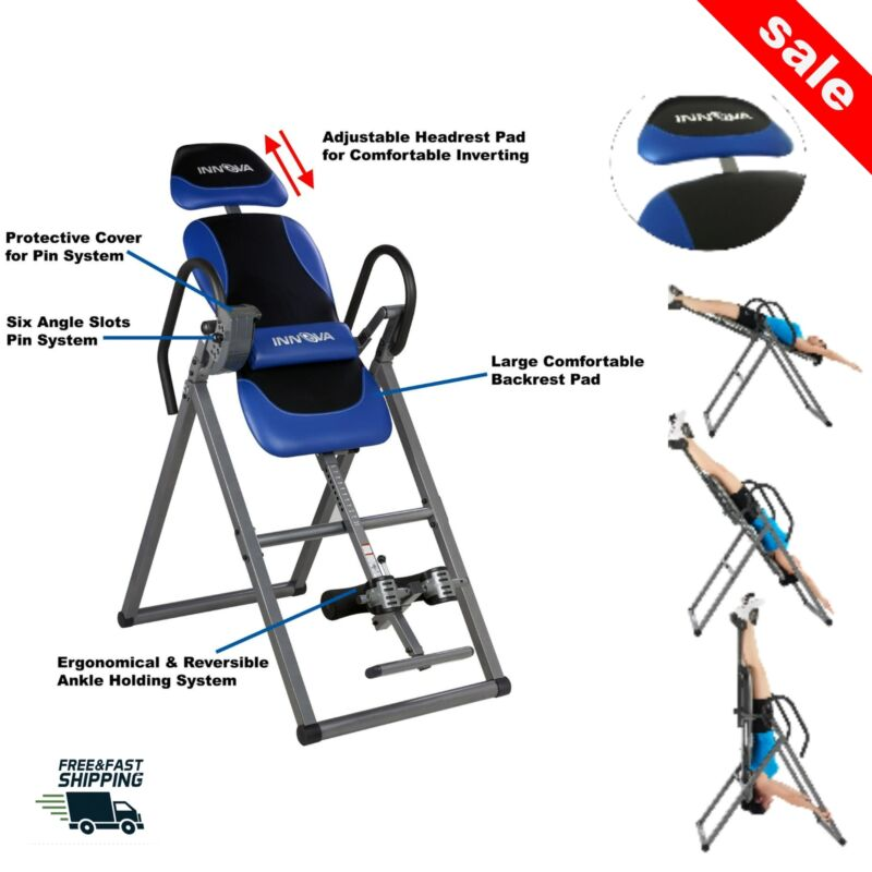 Inversion Table Back Pain Therapy Hang Gravity Teeter Relief Gym Workout Fitness
