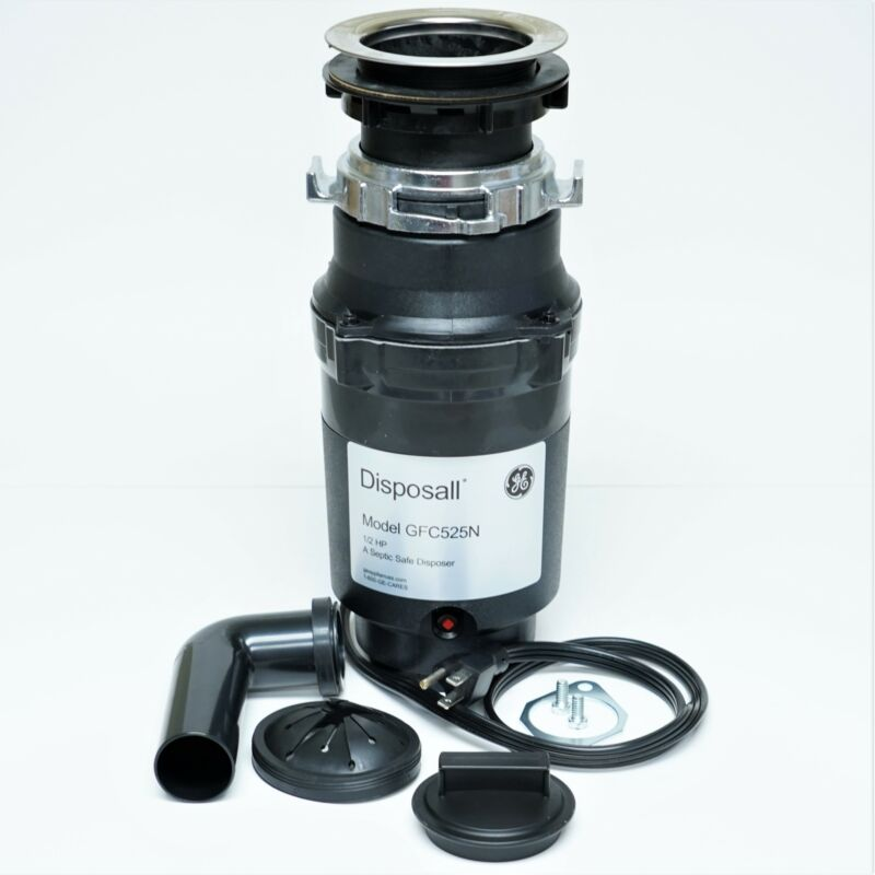 GFC525N GE Disposall Garbage Food Waste Disposer 1/2 HP With Cord