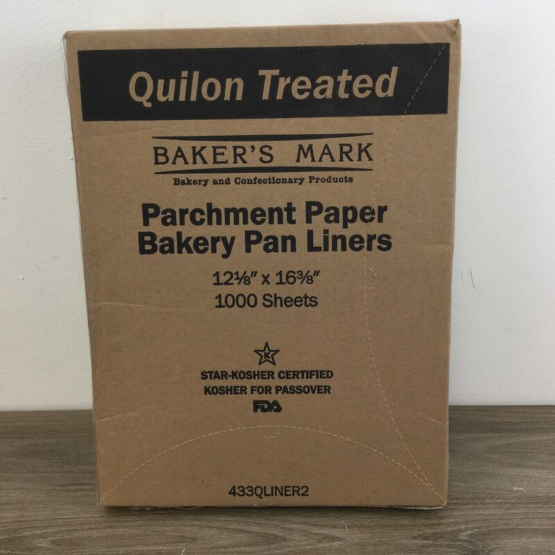 """12"""" x 16"""" Half Size Coated Parchment Paper Sheet Pan Liner Sheet Resto 1000-Pack"""