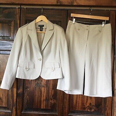 Worthington Petite Stretch Separates Women's Suit Jacket Sz 12p Pants Sz 8 -