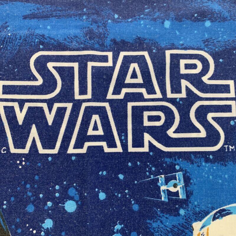 Vintage Original 1977 STAR WARS Pillow Case Bibb Co. EUC Blue