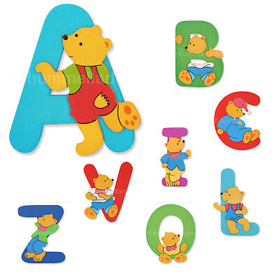 A-Z Holzbuchstabe Bär Buchstabe Holz Kinderzimmer Babyzimmer Dekoration Name