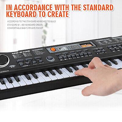 Teclado electrónico de música Digital, 61 teclas,Piano eléctrico,para niños M5X2