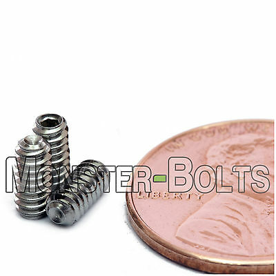 - #4-40 - Cup Point Socket Set / Grub Screws SAE Coarse Stainless Steel A2 / 18-8