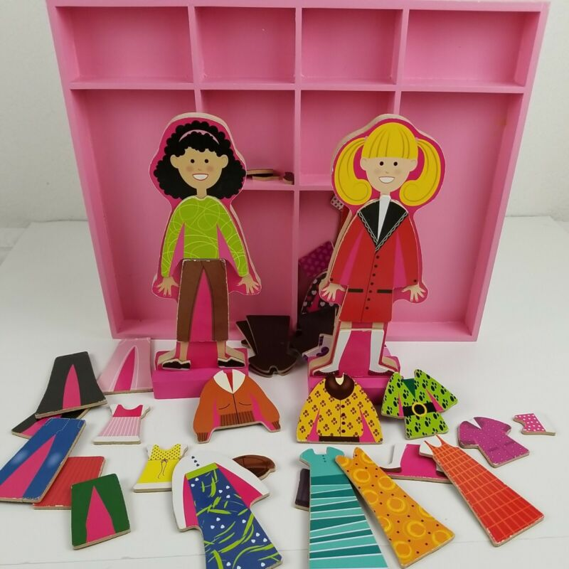 Magnetic Dress-up Paper Dolls Abby & Emma