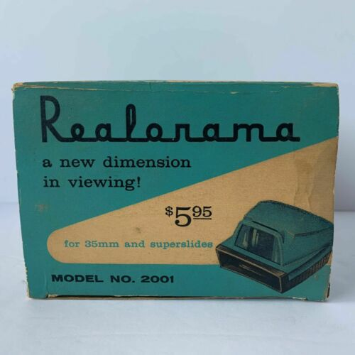 VINTAGE REALORAMA REALARAMA SLIDE VIEWER BY REALIST MODEL 2001 EXCELLENT w/box