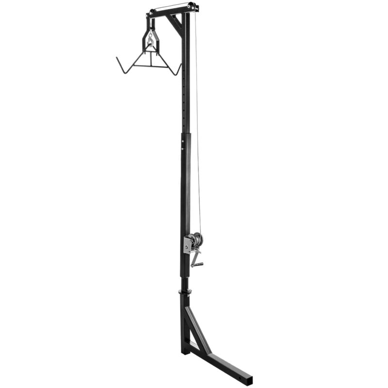VEVOR Hitch Mounted Hoist with Gambrel - 500lb. Capacity Winch Lift