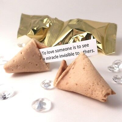 Wedding Fortune Cookies Wedding Favours: Wedding Quotes: Box of 30: Gold wrapper
