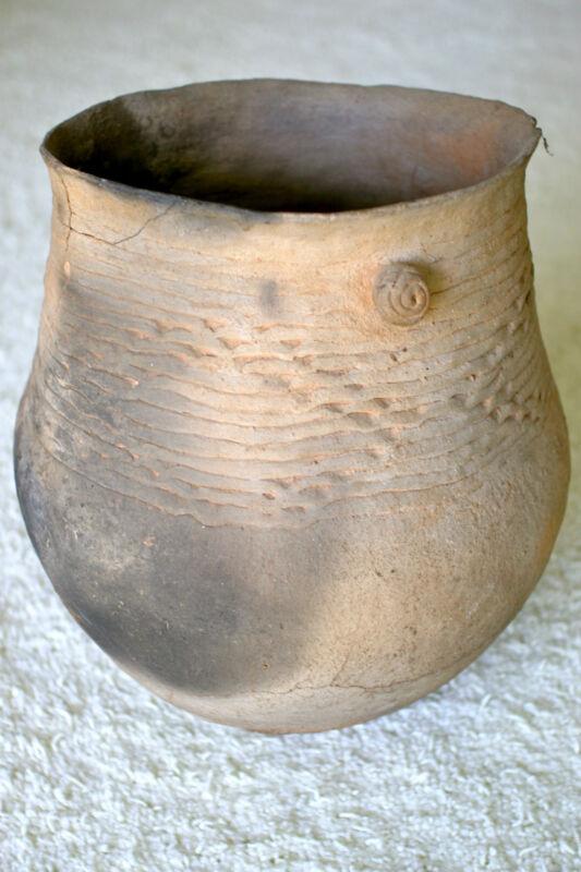 "Anasazi Cooking Pot 9.75""x12.25"" Old Pottery Prehistoric"