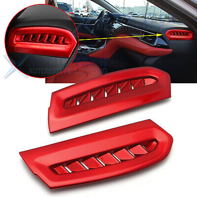 For Toyota Camry 2018 2019 Interior ABS Red Side Air Vent Outlet Cover Trim 2Pcs