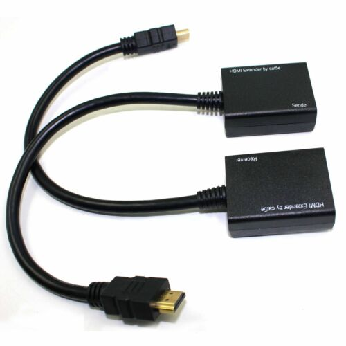 HDMI Over RJ45 CAT5e CAT6 UTP LAN Ethernet Balun Extender Repeater 1080p 3D US