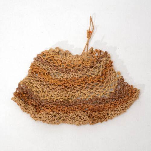 Vintage Aboriginal hand woven fiber Dilly Bag from Mornington Island Australia