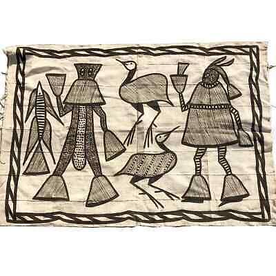 Vintage African Textile Art Korhogo Mud Cloth