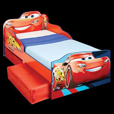 Kinderbett + Schubladen Disney Cars Juniorbett Jugendbett Autobett Holz 140x70cm ()