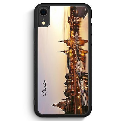 PANORAMA DRESDEN IPHONE XR SILIKON H LLE COVER SKYLINE SILHOUETTE SCH N HANDY