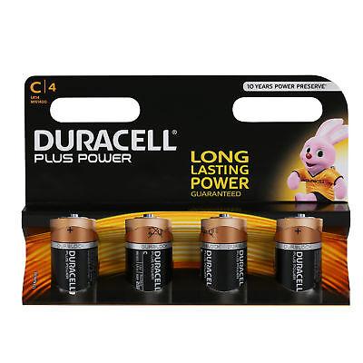 4x Duracell Batterien PLUS POWER Alkaline Baby LR14 C 1,5 V Blister 4 Stück Duracell Plus Power Batterie