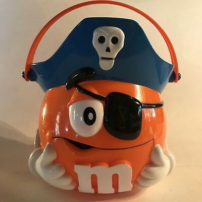 rare vintage ORANGE M&M PIRATE Trick or Treat Bucket Halloween CANDY Bucket Pail](Halloween M&m Treats)