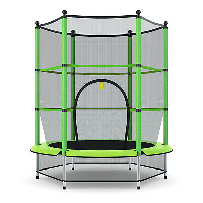 """Exercise 55"""" Round Kids Youth Jumping Trampoline W/ Safety P"""