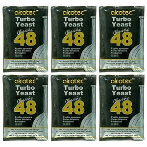 Alcotec Classic 48 Hour Turbo Distillers Yeast (Pack of 6) - Best Value!