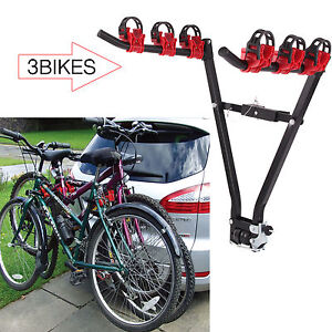 3 Bike Cycle Bicycle Mountain Rear Towbar Mount Car 4x4 Carrier Rack Tow Ball