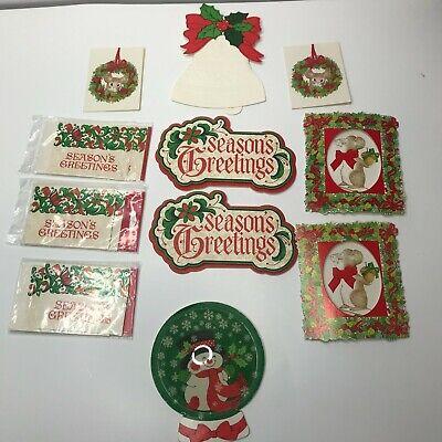 20 Vintage Christmas Package Decoration Gibson Hallmark Seasons Greetings mouse