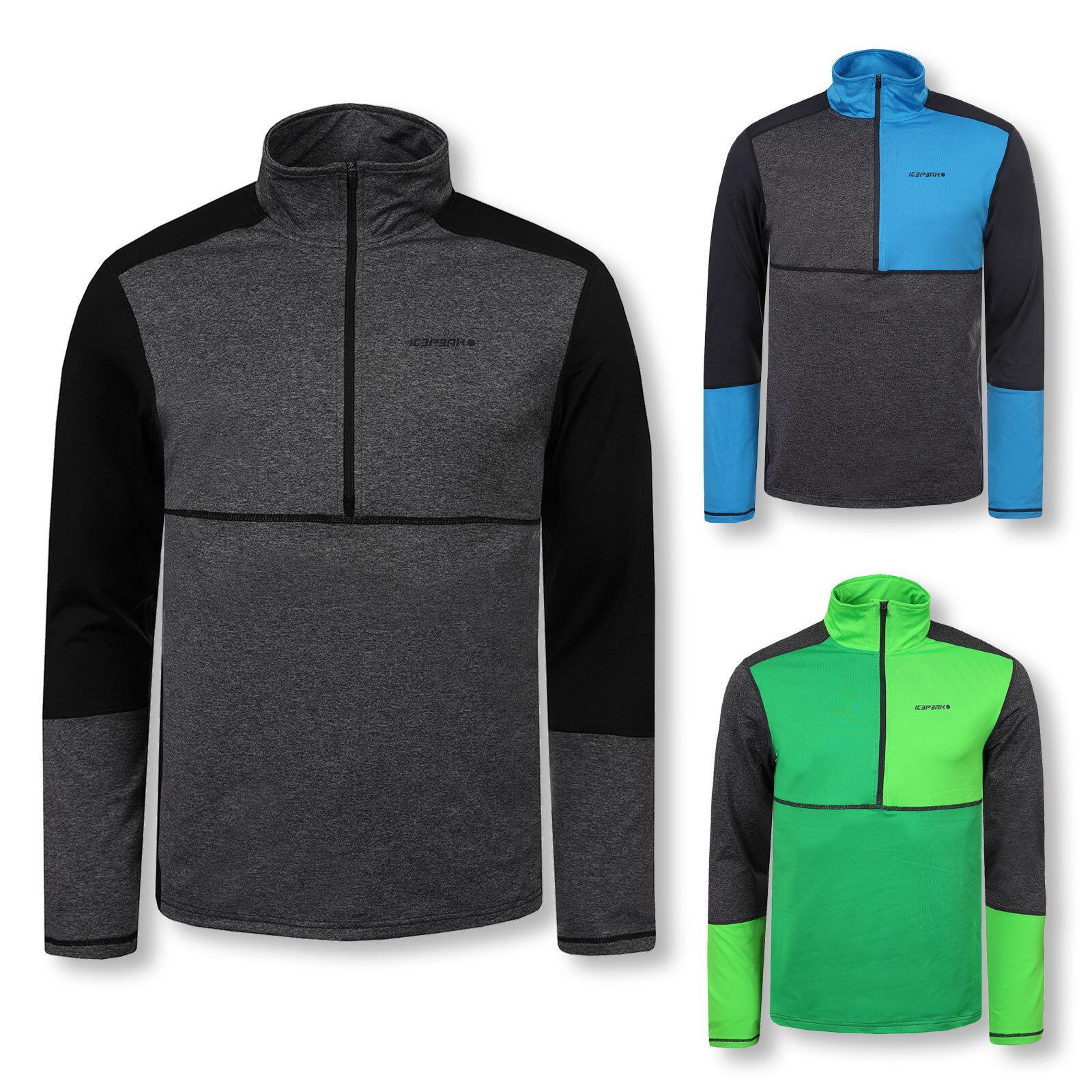 Icepeak Herren Skipullover Funktionsshirt Thermoshirt Half Zip Kylen Farbwahl