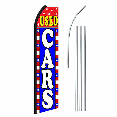 Used Cars - Advertising Sign Swooper Feather Banner Flag Pole Only