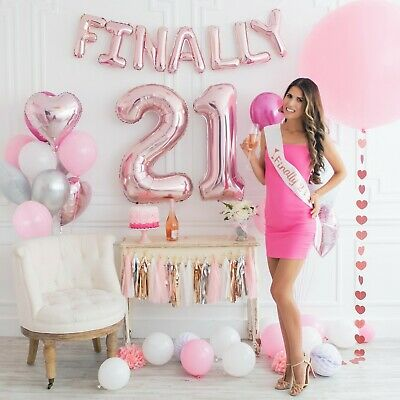 TRULY STUNNING 21st Birthday Decorations Party Supplies + (SASH) + (71+ items) - 21st Birthday Party Supplies