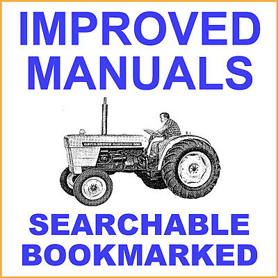 Case David Brown Factory 880 Selectamatic Livedrive Tractor Instruction Manual