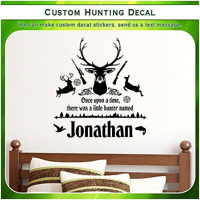 Custom Deer Doe Hunting Quote Vinyl Wall Home Decor Art Sticker Decal S161