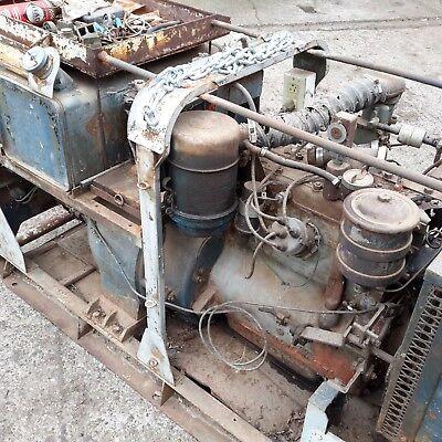 Willys jeep engine WW2 generator set barn find