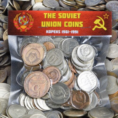 USSR SOVIET RUSSIAN 100 KOPEK COINS 1961-1991 COLD WAR HAMMER AND SICKLE CCCP