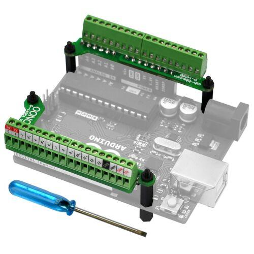 Ultra-small Gpio Terminal Block Breakout Board Module For Arduino Uno R3