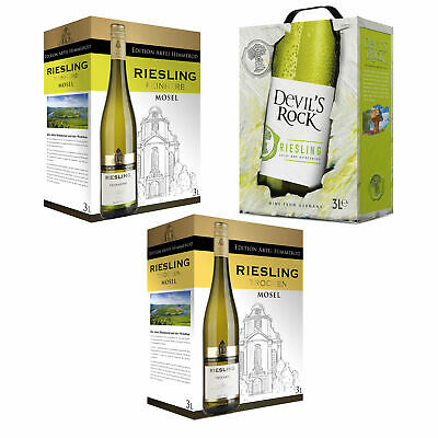 3x3L Riesling Weißwein Bag in Box BIB Set Probierpaket Trocken/Feinherb