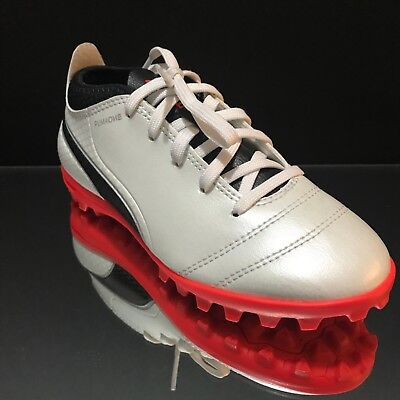 d2a5f9a181db Puma One 17.4 TT JR Turf Soccer Shoes Youth Kids White Coral 104247-01 Size  13 c