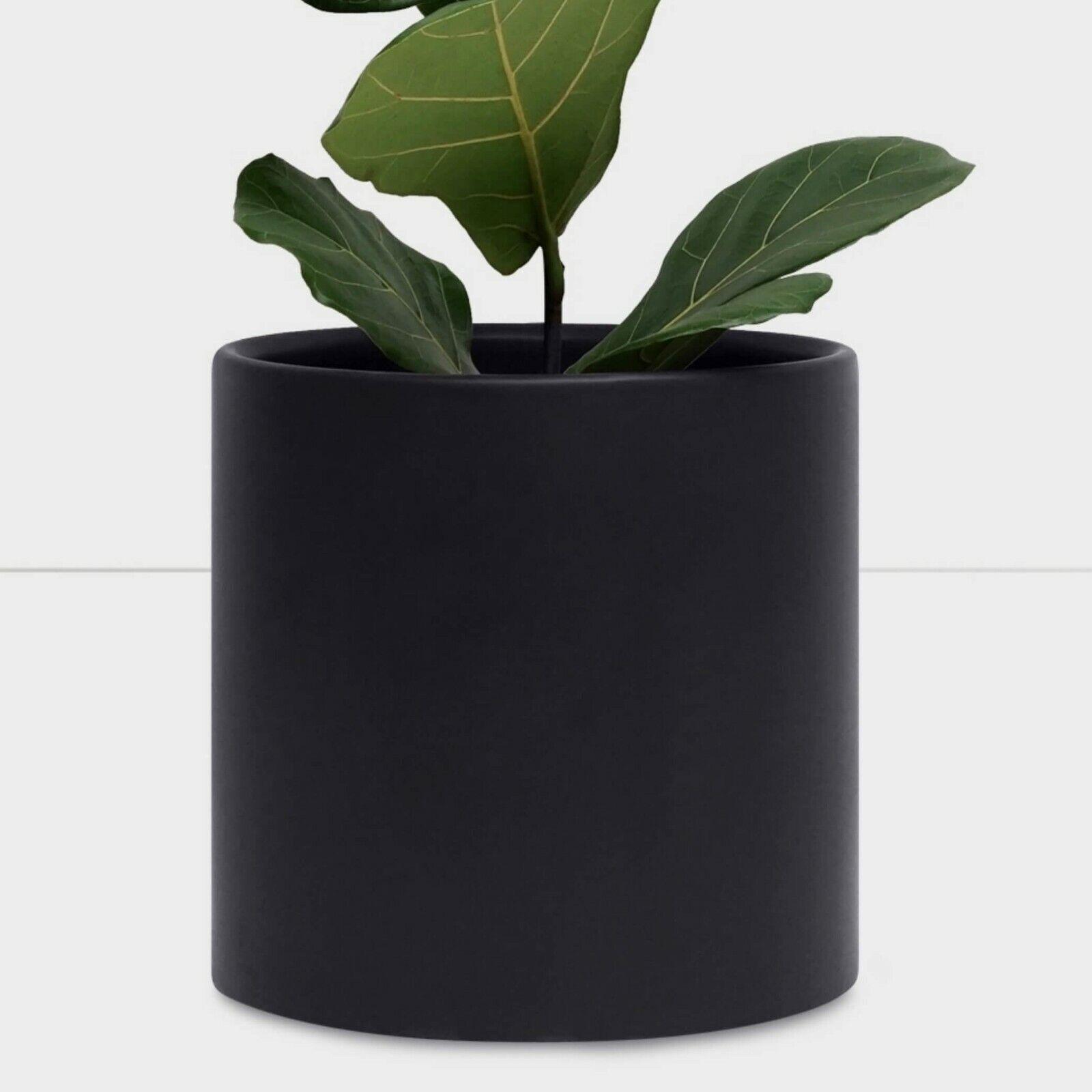 Large Black Plant Pot Modern Planter Ceramic Indoor Outdoor