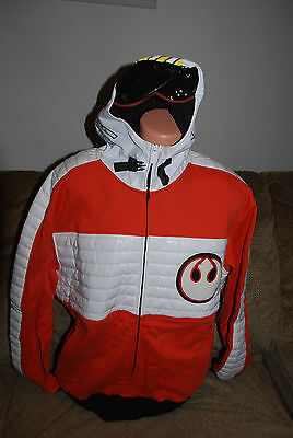 New Men's Star Wars Limited  Marc Ecko X Wing pilot Hoody  Large](X Wing Pilot Hoodie)