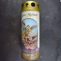 St.michael Candela 68 Ore Durata Credente Santo Cattolicesimo 15cm Bianco Wind -  - ebay.it