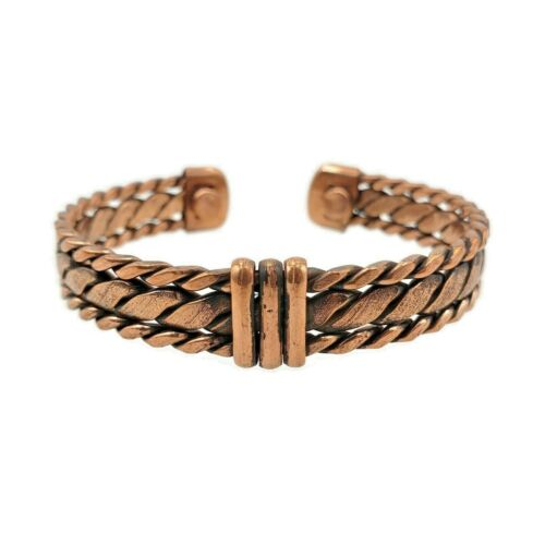 Pure Copper Magnetic Bracelet Arthritis Pain Energy Therapy Cuff New CP-CF566
