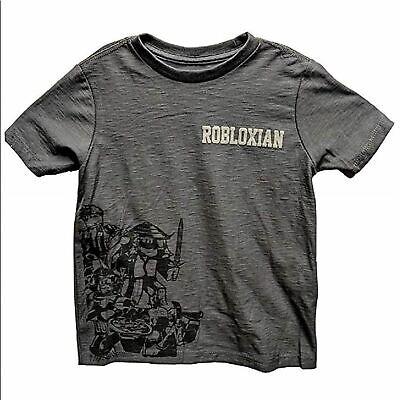 Robloxian Gray & Black Graphic T-Shirt