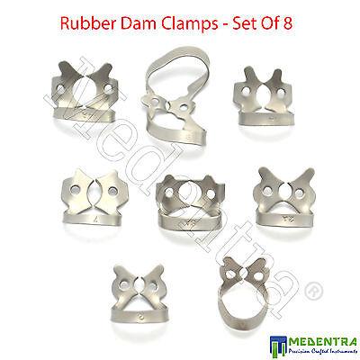 Metal Ivory Rubber Dam Clamps Winged Premolar Clamp Lower Molar Dental Medentra