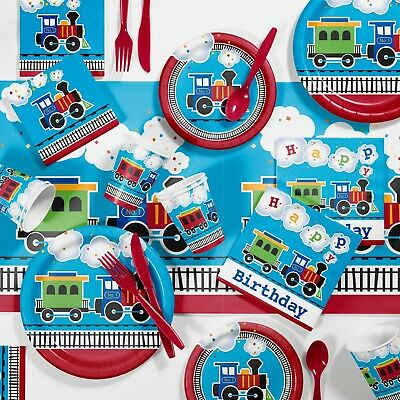 All Aboard Train Birthday Party Supplies Kit](Train Party Supplies)