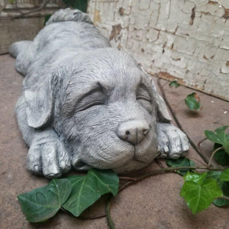 Magnesium Resin Sleeping Puppy Dog Statue Figurine