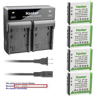 Pentax Rapid Charger (Kastar Battery Rapid Charger for Pentax D-LI68 D-LI122 Pentax Q Optio A36)