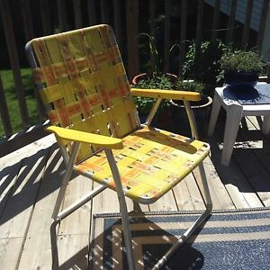Vintage Aluminum Folding Chair