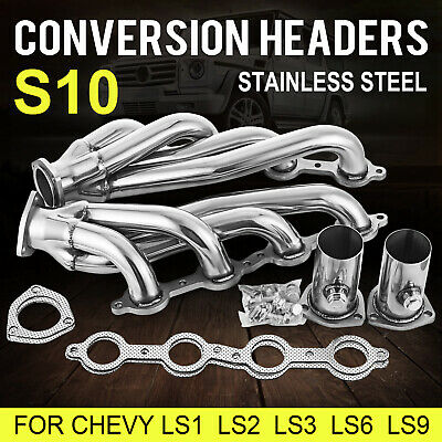 Set Swap S10 Conversion Headers Fit Chevy LS1 LS2 LS3 LS6 LS9 LS Engines Truck
