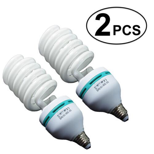 2PCS 85W 110v CFL Bulb Photo Studio Lamp Compact Fluorescent Light Lighting BOGO